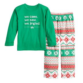 """Toddler Jammies For Your Families """"We Jingled"""" Top & Bottoms Pajama Set"""