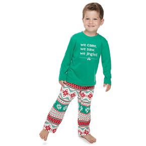 "Toddler Jammies For Your Families ""We Jingled"" Top & Bottoms Pajama Set"
