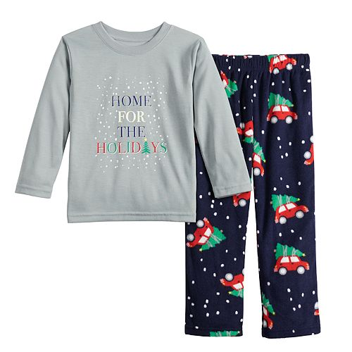 Toddler Jammies For Your Families Home For The Holidays Tee & Pants Pajama Set