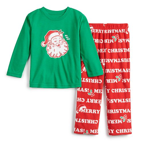 Toddler Jammies For Your Families Santa Ho Ho Ho Family Tee & Pants Pajama Set
