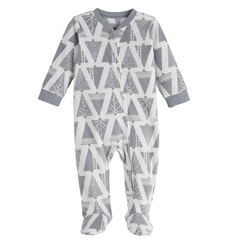 Baby Jammies For Your Families Joy Love Peace Family Microfleece Blanket Sleeper One-Piece Pajamas