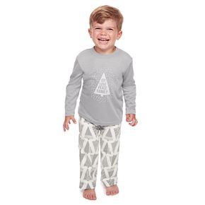 Toddler Jammies For Your Families Joy Love Peace Family Tee & Pants Pajama Set