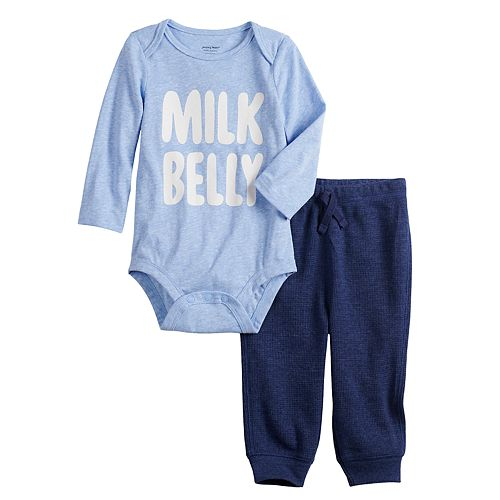 "Baby Boy Jumping Beans® ""Milk Belly"" Bodysuit & Pants Set"