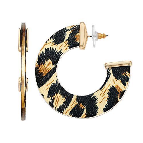 Nine West Colorful Hoop Earrings