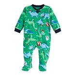 Baby Jammies For Your Families Dino Family Microfleece Blanket Sleeper One-Piece Pajamas