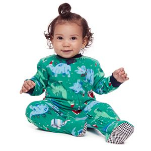 Baby Jammies For Your Families Dino Family Microfleece Blanket Sleeper One-Piece Pajamas