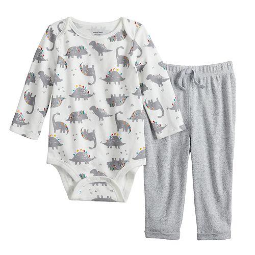 Baby Boy Jumping Beans® Dino Bodysuit & Cozy Pants Set