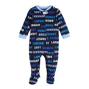 Baby Jammies For Your Families Hanukkah Family Microfleece Blanket Sleeper One-Piece Pajama