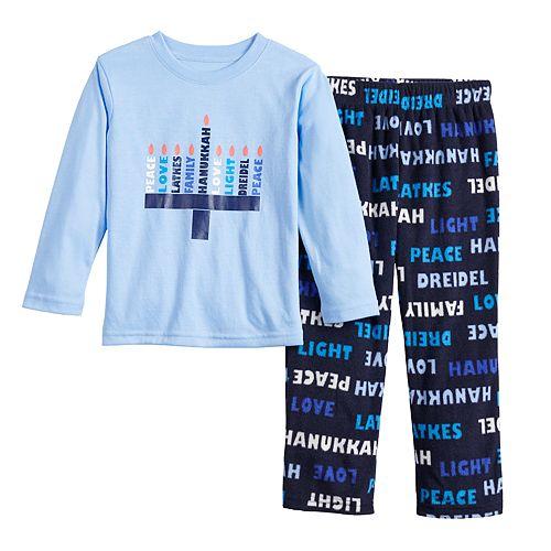 Toddler Boy Jammies For Your Families Hanukkah Family Tee & Pants Pajama Set