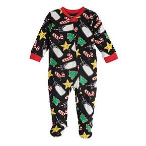 Baby Jammies For Your Families Milk & Cookies Family Microfleece Blanket Sleeper One-Piece Pajamas