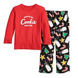 Toddler Jammies For Your Families Milk & Cookies Family Tee & Pants Pajama Set