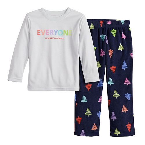 Toddler Jammies For Your Families Everyone is Santa's Fave Family Tee & Pants Pajama Set