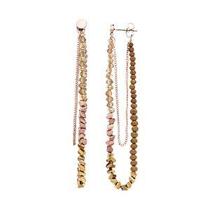 Simply Vera Vera Wang Rose Gold Tone Multi-bead Loop Post Earring