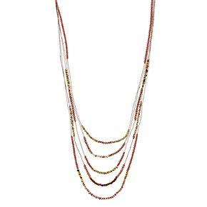 "Simply Vera Vera Wang Rose Gold Toned 20"" Multi-strand Beaded Necklace"