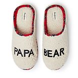 Men's Dearfoams Papa Bear Plaid Clog Slippers