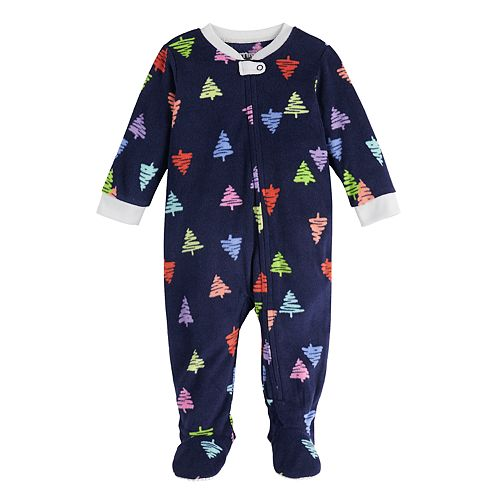 Baby Jammies For Your Families Everyone is Santa's Fave Family Microfleece Blanket Sleeper One-Piece Pajamas