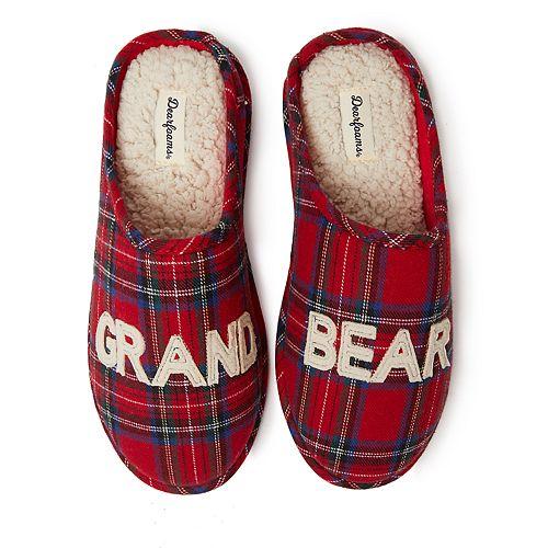 Unisex Dearfoams Grand Bear Plaid Clog Slippers