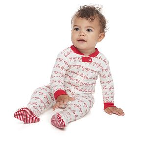 Baby LC Lauren Conrad Jammies For Your Families Fa La La Footed Pajamas