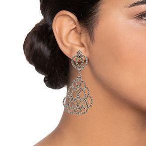 Simply Vera Vera Wang Hematite Tone Chandelier Drop Earrings