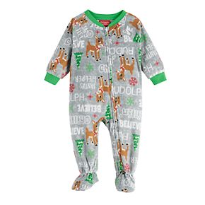 Baby Jammies For Your Families Rudolph Footed Pajamas