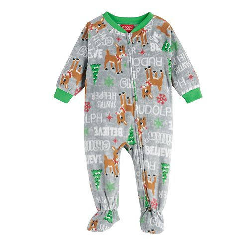 Baby Jammies For Your Families® Rudolph Footed Pajamas