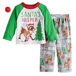 Toddler Jammies For Your Families Rudolph Top & Bottoms Pajama Set