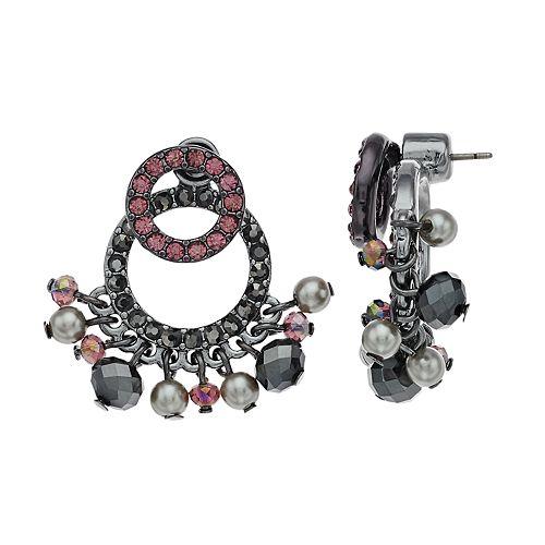 Simply Vera Vera Wang Hematite Tone Circle Post Earrings