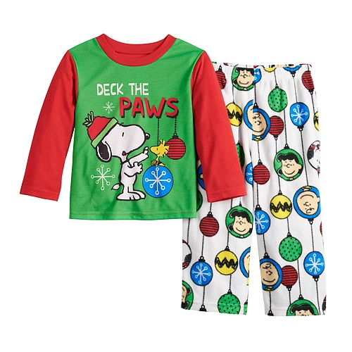 Toddler Jammies For Your Families Peanuts Snoopy Top & Bottoms Pajama Set