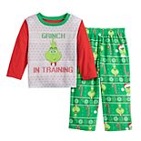 Toddler Jammies For Your Families The Grinch Top & Bottoms Pajama Set