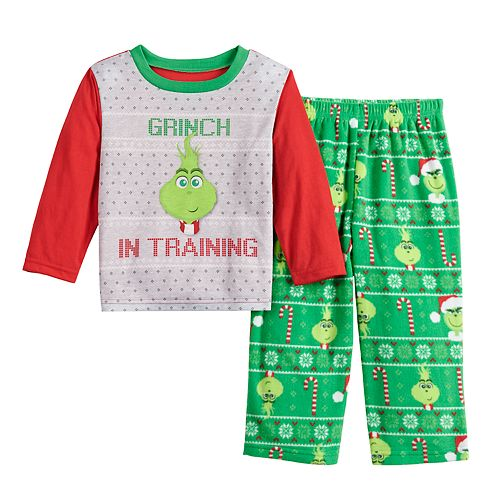 Toddler Jammies For Your Families® The Grinch Top & Bottoms Pajama Set