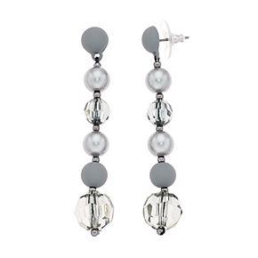 Simply Vera Vera Wang Hematite Tone Grey Linear Post Earrings