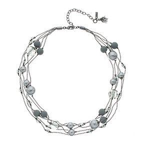 Simply Vera Vera Wang Beaded Illusion Necklace