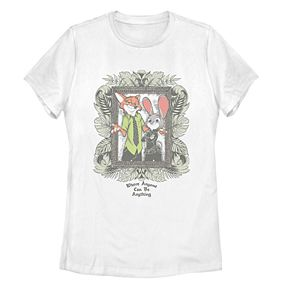 """Disney Juniors' Zootopia """"Where Anyone Can Be Anything"""" Graphic Tee"""
