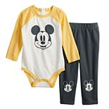 Disney's Mickey Mouse Baby Boy Graphic Bodysuit & Pant Set by Jumping Beans®