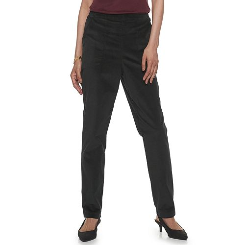 Women's Croft & Barrow® Pull-On Stretch Corduroy Pants