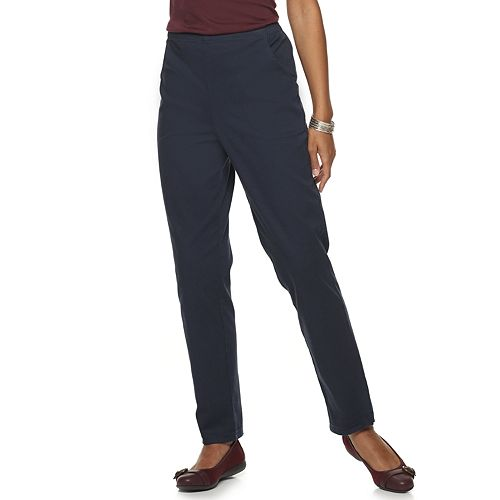 Women's Croft & Barrow® Classic Pull-On Straight Leg Pants