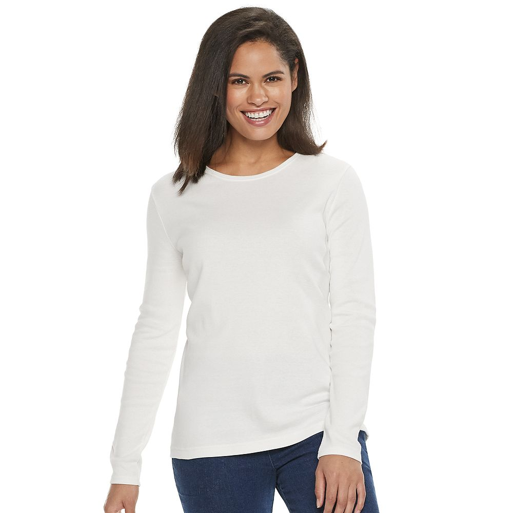 Women's Croft & Barrow® Classic Crewneck Tee