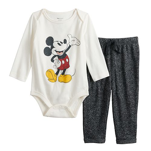 Disney's Mickey Mouse Baby Boy Graphic Bodysuit & Cozy Knit Pants Set by Jumping Beans®