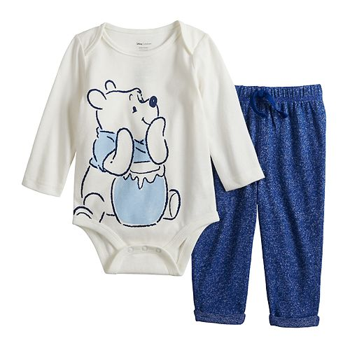 Disney's Winnie the Pooh Baby Boy Graphic Bodysuit & Cozy Knit Pants Set by Jumping Beans®