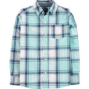 Boys OshKosh B?gosh Plaid Button-Front Shirt