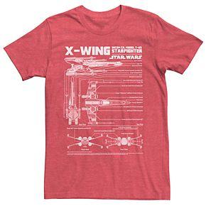 Men's Star Wars X-Wing Schematic Tee