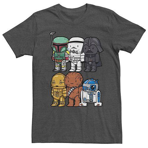 Men's Star Wars Cartoon Style Group Shot Tee