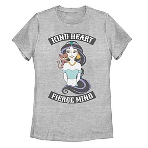 "Juniors' Disney's Aladdin Jasmine ""Kind Heart Fierce Mind"" Graphic Tee"