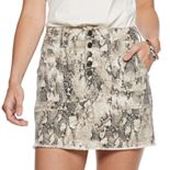 Juniors' Mudd® Exposed Button Skirt