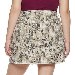 Juniors' Mudd Plus Exposed Button Skirt