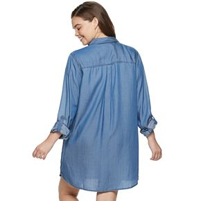 Juniors' Plus Size SO® Shirt Dress