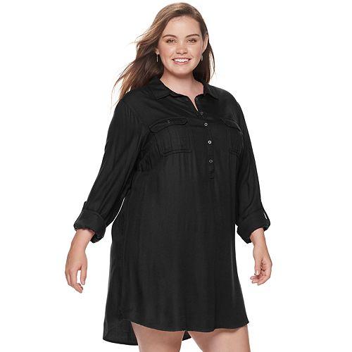 Juniors' Plus Size SO® Shirt Dress