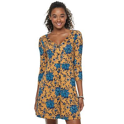 Juniors' Mudd Button Front Dress