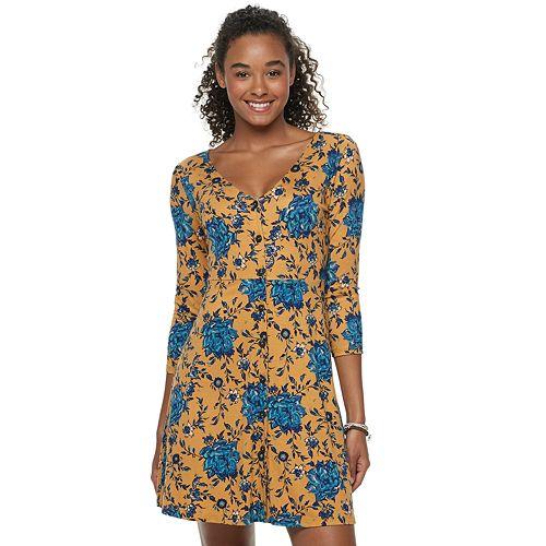 Juniors' Mudd® Button Front Dress