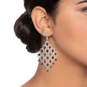 Simply Vera Vera Wang Silver Tone Chandelier Leverback Earrings
